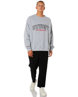 TRUE GREY MARLE MENS CLOTHING STUSSY JUMPERS - ST096209TRGRY