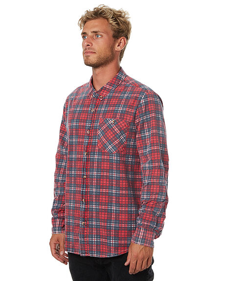 RED MENS CLOTHING ROLLAS SHIRTS - 201091008