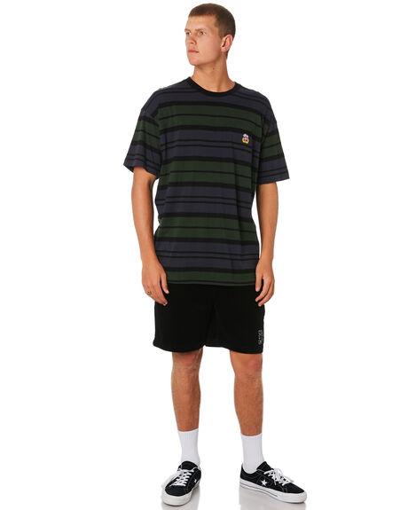 BLACK MENS CLOTHING STUSSY SHORTS - ST091602BLK