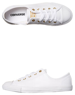 WHITE GOLD WOMENS FOOTWEAR CONVERSE SNEAKERS - 555837WHTG1