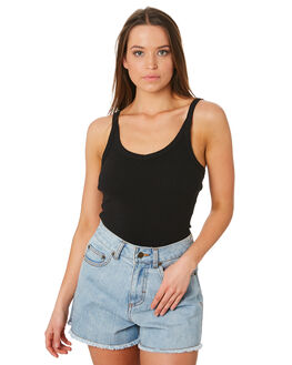 BLACK WOMENS CLOTHING SWELL SINGLETS - S8189272BLK