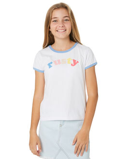 WHITE KIDS GIRLS RUSTY TOPS - TTG0001WHT