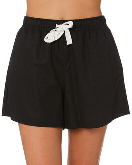 BLACK WOMENS CLOTHING NUDE LUCY SHORTS - NU23685BLK