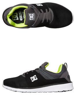 BLACK BATTLESHIP LIME MENS FOOTWEAR DC SHOES SNEAKERS - ADYS7000710BL
