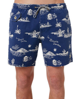 BLUE SPRINGS MENS CLOTHING DEUS EX MACHINA BOARDSHORTS - DMS82633BLU