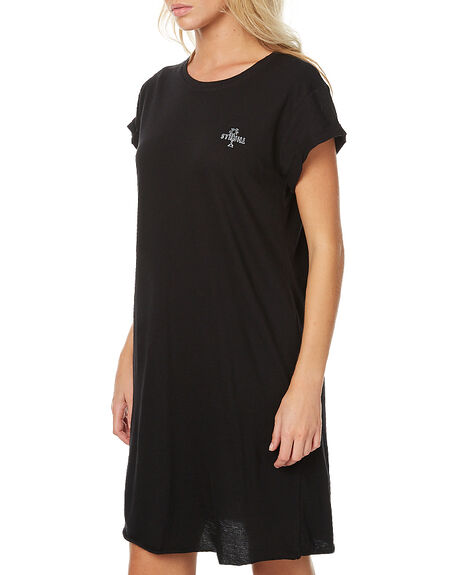 BLACK WOMENS CLOTHING THRILLS DRESSES - WTA7-902BBLK