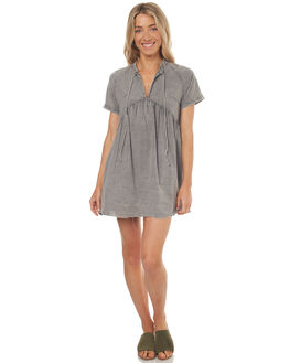 FADED GREY WOMENS CLOTHING THRILLS DRESSES - WTS7-906GFGREY