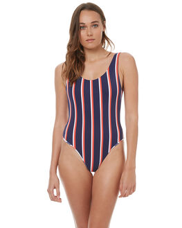 VARSITY STRIPE OUTLET WOMENS BOND EYE ONE PIECES - BW61150STSTRP