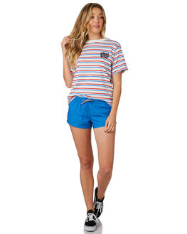 CALI STRIPE WOMENS CLOTHING SANTA CRUZ TEES - SC-WTD8733CALIS