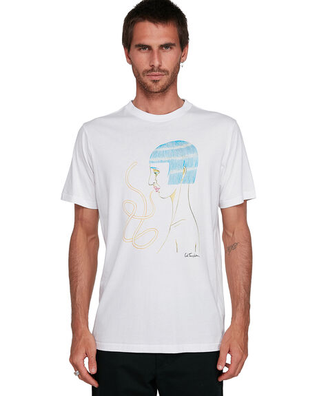 ANTIQUE WHIT MENS CLOTHING RVCA TEES - RV-R108041-AWT