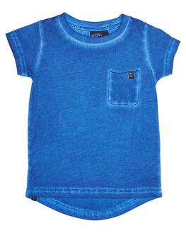 WASHED BLUE KIDS TODDLER BOYS ALPHABET SOUP TEES - AS-KTC7164WBLU