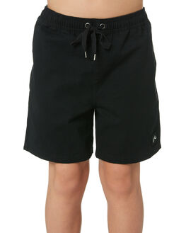 BLACK KIDS BOYS RUSTY SHORTS - WKB0309BLK