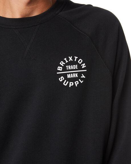 BLACK MENS CLOTHING BRIXTON JUMPERS - 02730BLK