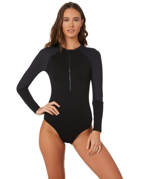 BLACK WOMENS SWIMWEAR SWELL ONE PIECES - S8184339BLACK