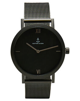 BLACK MENS ACCESSORIES KAPTEN AND SON WATCHES - KS-CE07B0733E01AABLK