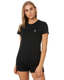 BLACK WOMENS CLOTHING VOLCOM TEES - B3541901BLK