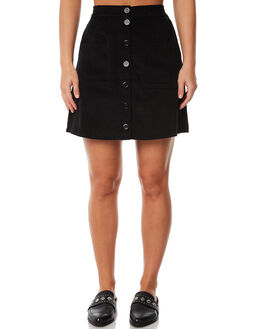 BLACK OUTLET WOMENS RUE STIIC SKIRTS - SW18-11-1BKBLK
