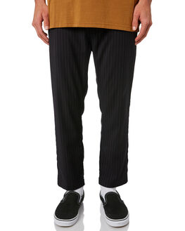 BLACK PINSTRIPE MENS CLOTHING THE CRITICAL SLIDE SOCIETY PANTS - PT1816BLKPI