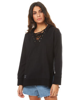 BLACK WOMENS CLOTHING RPM JUMPERS - 7PWT13BBLK