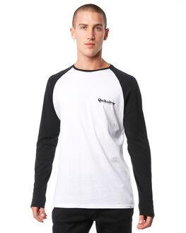 WHITE BLACK MENS CLOTHING QUIKSILVER TEES - EQYZT04873XWWK