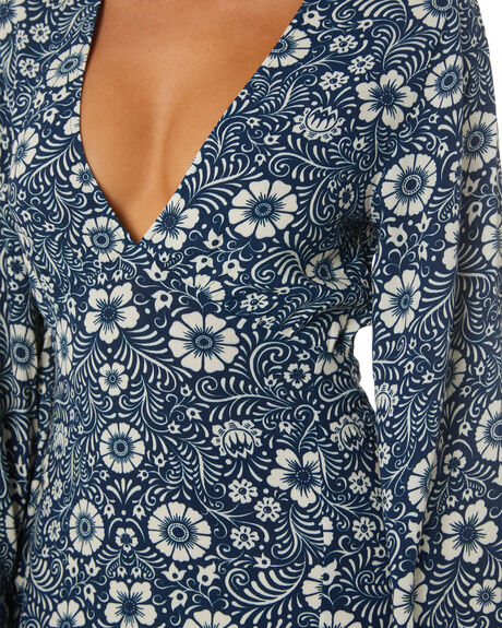INK FLORAL WOMENS CLOTHING TIGERLILY DRESSES - T613405M07