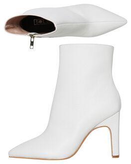 WHITE WOMENS FOOTWEAR SOL SANA BOOTS - SS192W426WHT