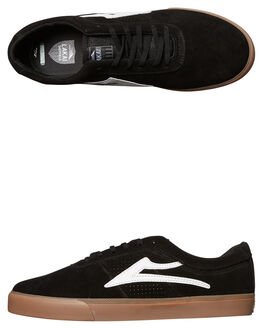 BLACK WHITE MENS FOOTWEAR LAKAI SKATE SHOES - MS417-0101-A00BKWH