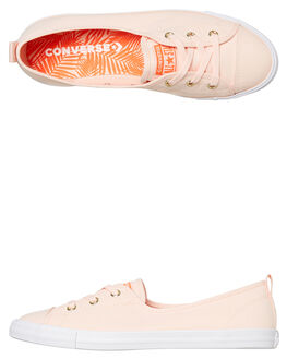 WASHED CORAL WOMENS FOOTWEAR CONVERSE SNEAKERS - 564313CWCRL