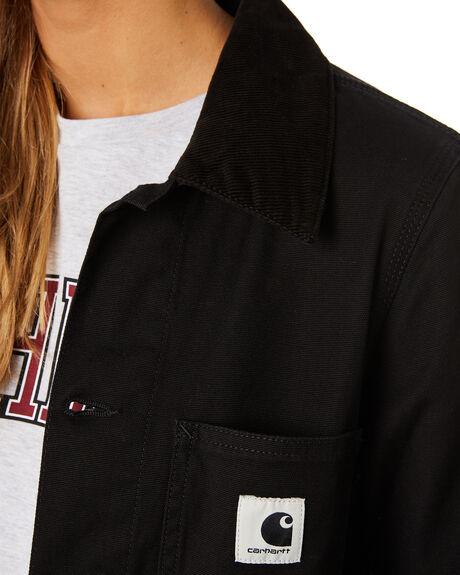 BLACK RINSED WOMENS CLOTHING CARHARTT JACKETS - I0265658902