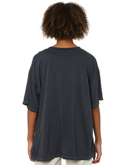 VINATGE BLACK WOMENS CLOTHING MISFIT TEES - MT115003VBLK