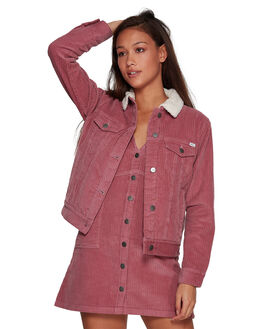 PLUM BERRY WOMENS CLOTHING RVCA JACKETS - RV-R293436-PBY
