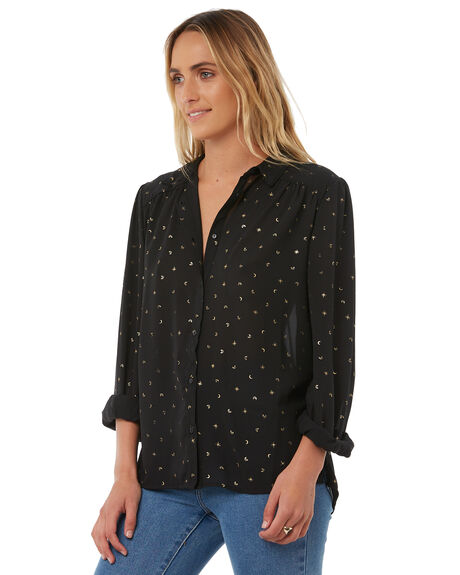 BLACK WOMENS CLOTHING RUSTY FASHION TOPS - WSL0556BLK