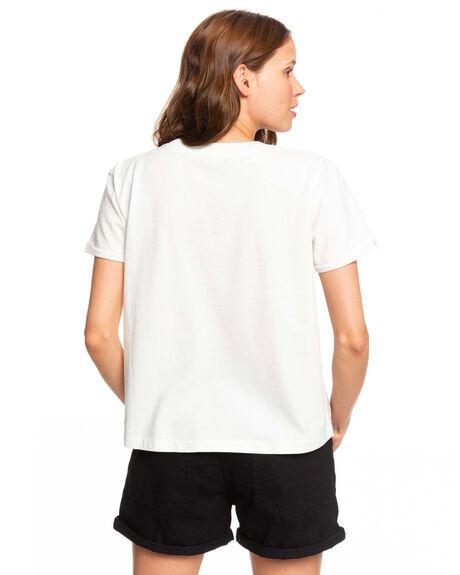 SNOW WHITE WOMENS CLOTHING ROXY TEES - ERJZT04779-WBK0