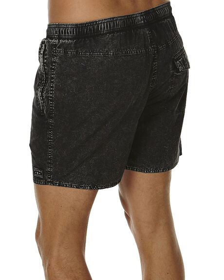 BLACK ACID MENS CLOTHING AFENDS BOARDSHORTS - 09-04-029BLKAC