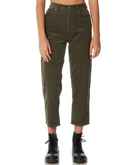 OLIVE WOMENS CLOTHING AFENDS JEANS - W181452OLIVE