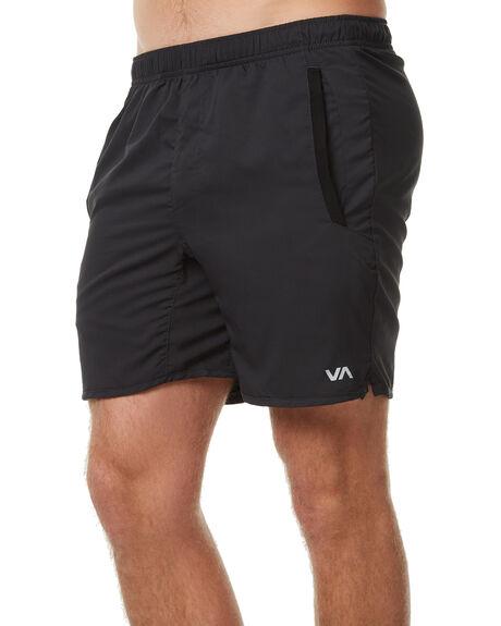 BLACK MENS CLOTHING RVCA SHORTS - R371314BLK