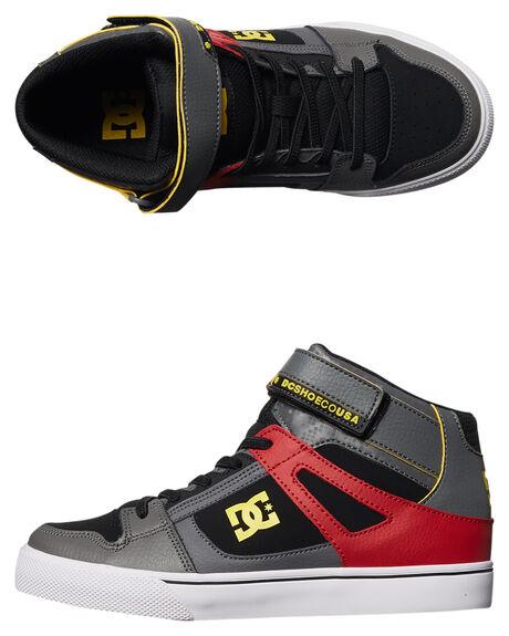 6ac707f6da6 Dc Shoes Youth Spartan High Se Ev Shoe - Grey Black Red