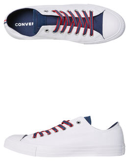 WHITE GYM RED MENS FOOTWEAR CONVERSE SNEAKERS - 160467RED