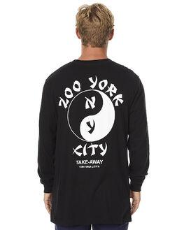 BLACK MENS CLOTHING ZOO YORK TEES - ZY-MLA7036JBLK
