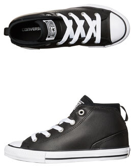 BLACK STORM WHITE KIDS BOYS CONVERSE SNEAKERS - 657537BLK