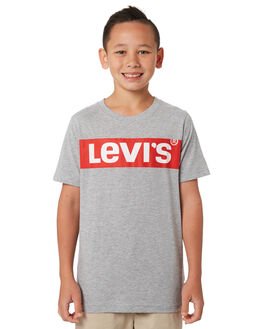 GREY HEATHER KIDS BOYS LEVI'S TOPS - 37490-0339