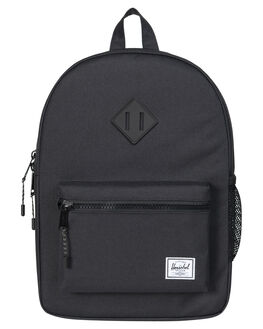 BLACK BLACK RUBBER KIDS BOYS HERSCHEL SUPPLY CO BAGS - 10312-00155-OSBLK