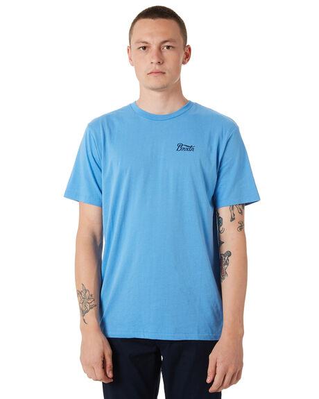 WASHED ROYAL MENS CLOTHING BRIXTON TEES - 06566WAROY