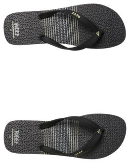 VINTAGE BLACK MENS FOOTWEAR REEF THONGS - 220VBL