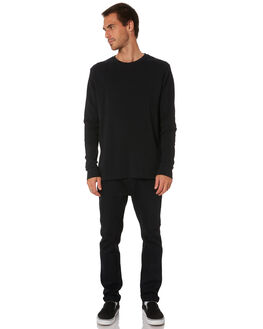 BLACK MENS CLOTHING MR SIMPLE TEES - M-03-01-01BLK