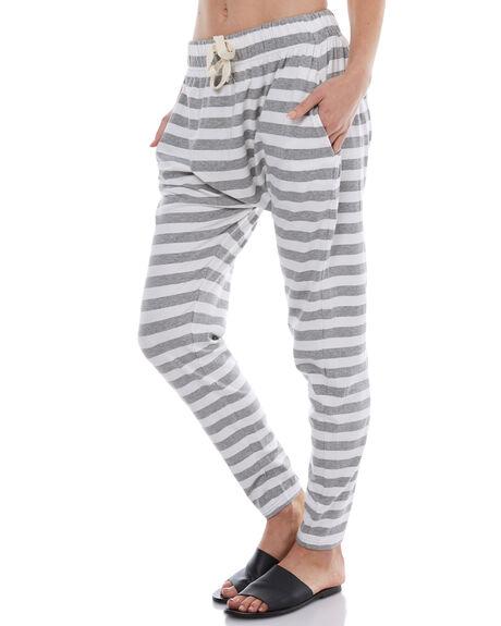 GREY WHITE STRIPE WOMENS CLOTHING SILENT THEORY PANTS - 6008041STR