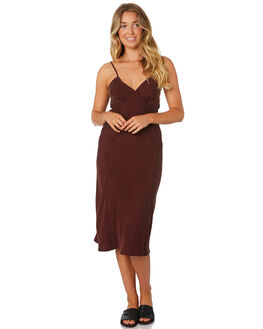 BLOOD RED WOMENS CLOTHING THRILLS DRESSES - WTA9-910HBRED
