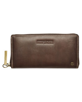 CHOCOLATE WOMENS ACCESSORIES STITCH AND HIDE PURSES + WALLETS - CHRISLEWALCHOC
