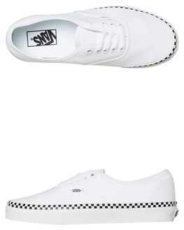 WHITE CHECK WOMENS FOOTWEAR VANS SNEAKERS - SSVNA38EMVJUWCHKW