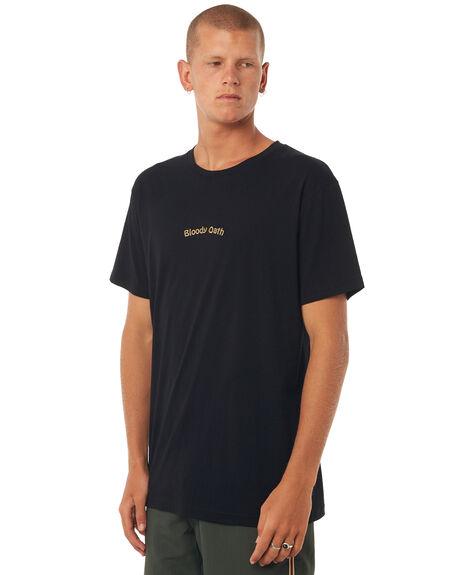 BLACK MENS CLOTHING RHYTHM TEES - DEC17M-SS09BLK